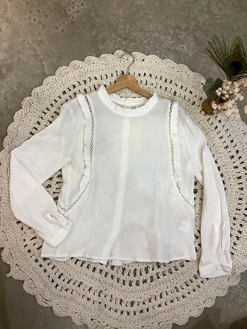Blouse en coton Mirabelle blanche