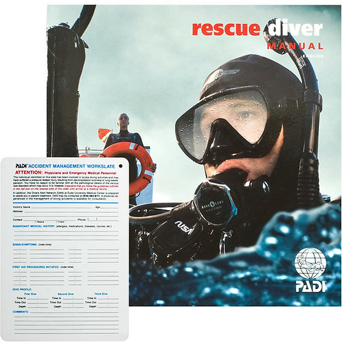 PADI Rescue Diver Manual With Slate
