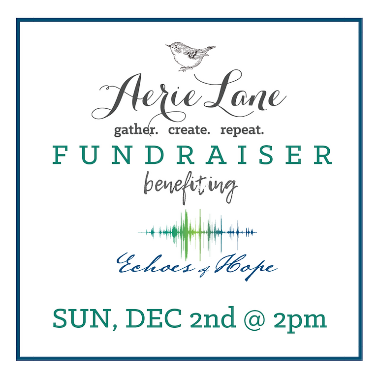 Aerie Lane Fundraiser - Sunday, Dec. 2nd