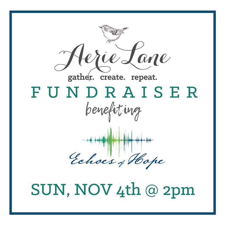 Aerie Lane Fundraiser - Sunday, Nov. 4th