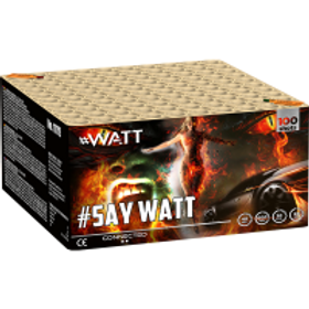 SAY WATT - 100 Schuss XXL Mega Verbundfeuerwerk