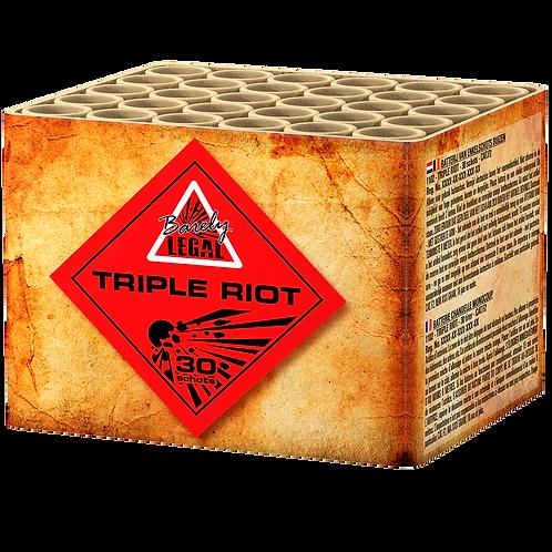 Triple Riot - 30 Schuss Salute Feuerwerksbatterie