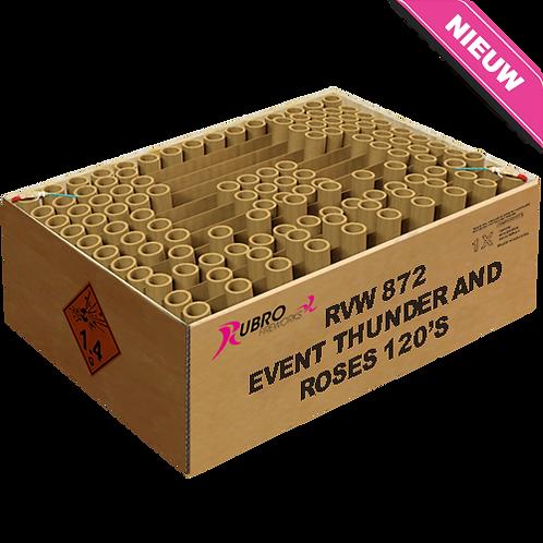 Event Thunder and Roses 120`s - 120 Schuss XXL Verbundfeuerwerk