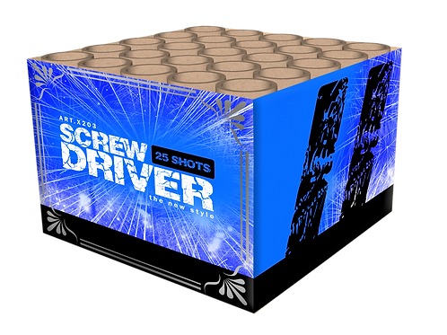 Screwdiver - 25 Schuss Feuerwerksbatterie KATAN
