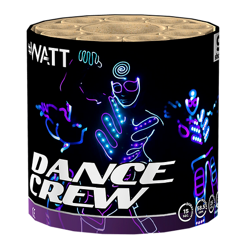 Dancecrew - 9 Schuss #WATT Feuerwerksbatterie VOLT!