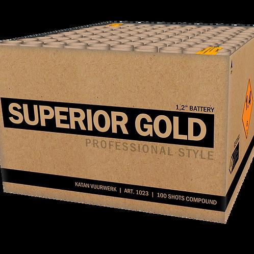 Superior Gold - 100 Schuss XXL Verbundfeuerwerk 30mm KATAN