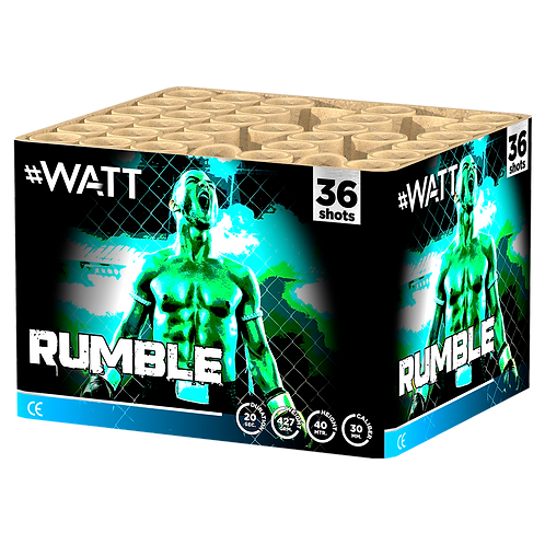 Rumble -  36 Schuss #WATT Feuerwerksbatterie VOLT!
