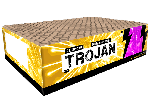Trojan - 216 Schuss XXL Verbundfeuerwerk 20mm KATAN