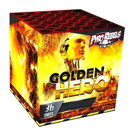 Golden Hero - 36 Schuss Feuerwerksbatterie