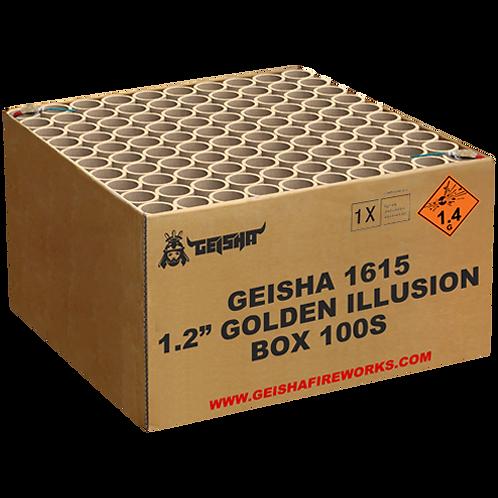 """1,2"""" Golden Illusion - 100 Schuss XXL Mega Verbundfeuerwerk"""