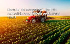 Nova lei de recuperação judicial consolida benefícios a produtores rurais