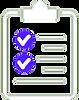 icone branco prancheta pos venda - BULLE