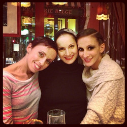 with friends in Paris