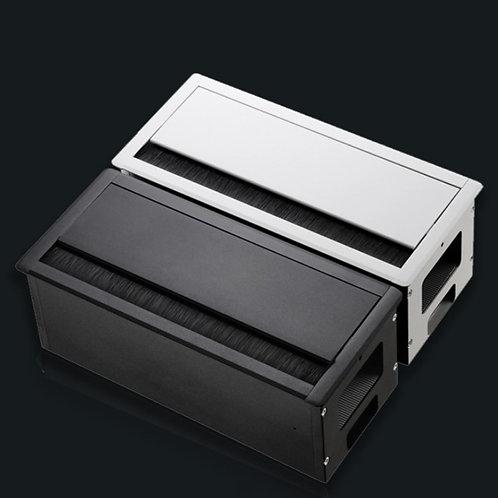 鋁合金桌面線槽盒 (有底座)  - Flipper