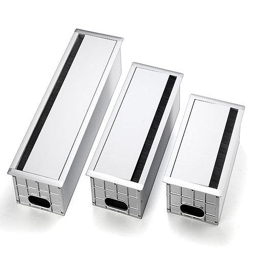 不銹鋼桌面線槽盒 (有底座)  - Flipper