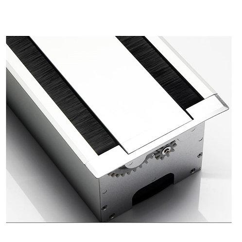 鋁合金桌面線槽盒 (有底座, 雙開蓋)  - Flipper