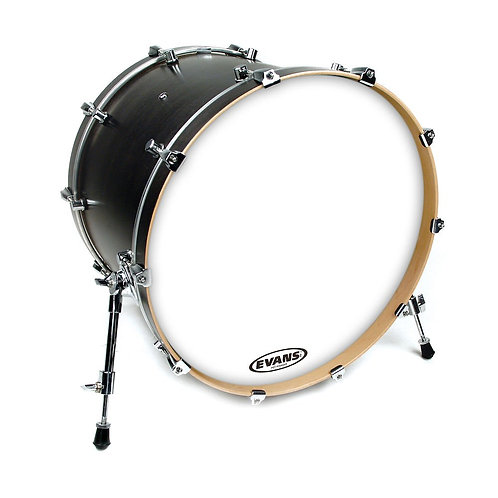 Evans EQ3 Resonant Coated White Bass Drum Head No Port 20 Inch