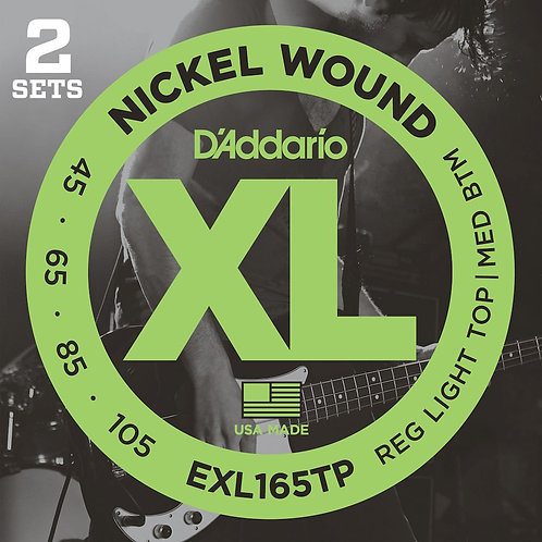 EXL165TP Nickel Wound Bass Guitar Strings Custom Light 45-105 2 Sets Long Scale