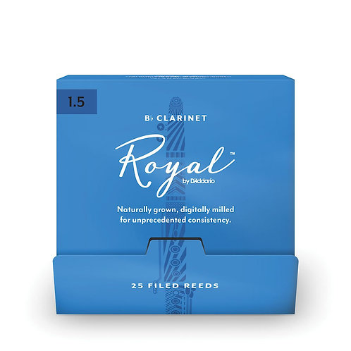 Royal by D'Addario Bb Clarinet Reeds #1.5 25-Count SGL Reeds