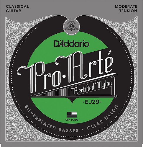 D'Addario EJ29 Classics Rectified Classical Guitar Strings Moderate Tension