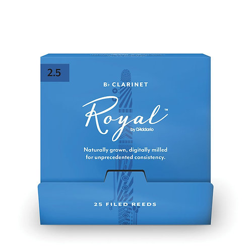 Royal by D'Addario Bb Clarinet Reeds #2.5 25-Count SGL Reeds