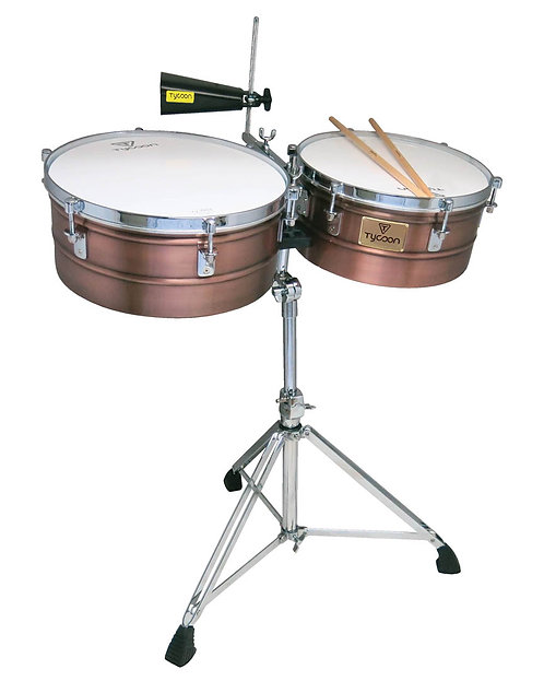 Antique Copper Shell Timbales
