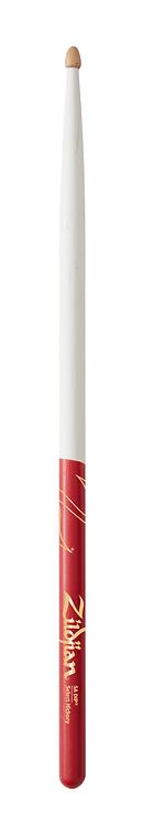 5A Acorn White w/ Red DIP Drumsticks