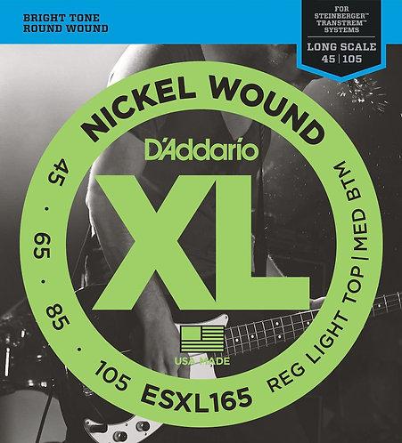 D'Addario ESXL165 Nickel Wound Bass Guitar Strings Custom Light 45-105