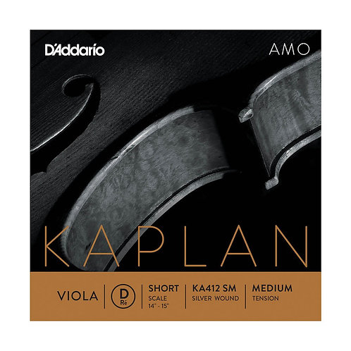D'Addario Kaplan Amo Viola D String Short Scale Med Tension