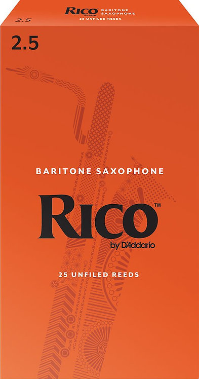 Rico by D'Addario Baritone Sax Reeds Strength 2.5 25-pack