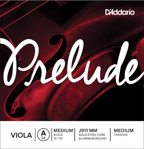 D'Addario Prelude Viola SGL A String Med Scale Med Tension