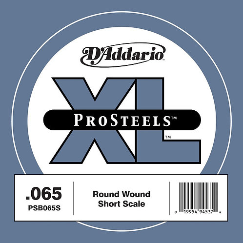 D'Addario PSB065S ProSteels Bass Guitar SGL String Short Scale .065