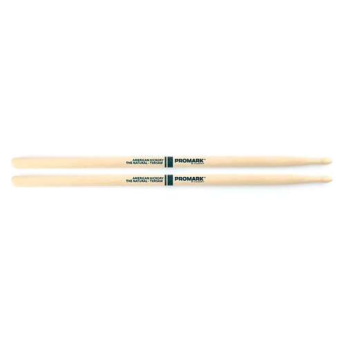 "Promark Hickory 5A ""The Natural"" Wood Tip drumstick"