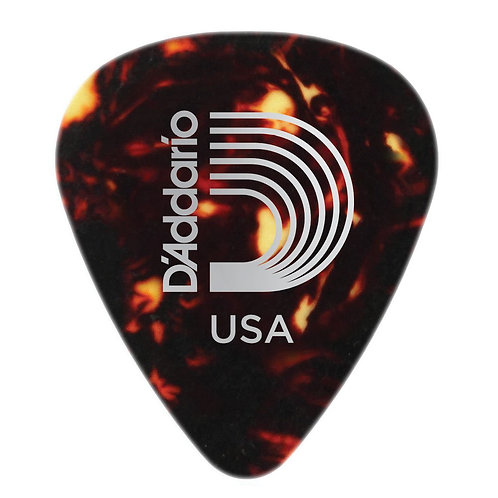D'Addario Shell-Color Celluloid Guitar Picks 100 pack Med