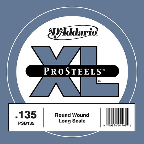 D'Addario PSB135 ProSteels Bass Guitar SGL String Long Scale .135