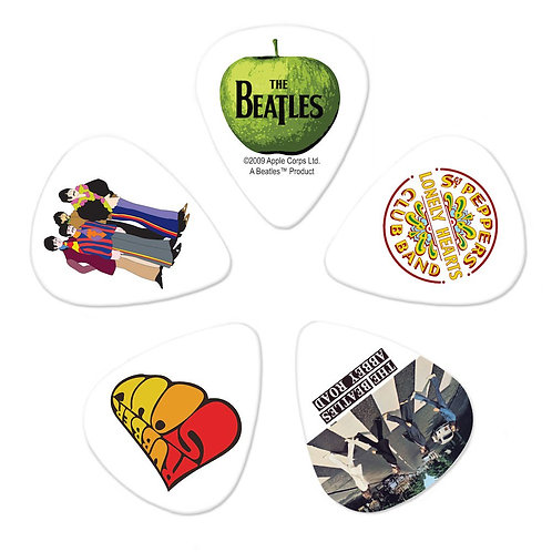 D'Addario Beatles Guitar Picks Albums 10 pack Med