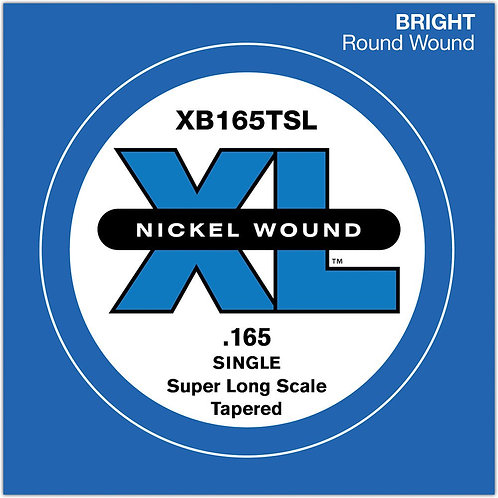 D'Addario XB165TSL Nickel Wound Bass Guitar SGL String Super Long .165 Tapered