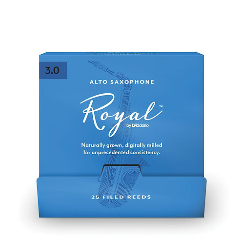 Royal by D'Addario Alto Sax Reeds #3.0 25-Count SGL Reeds