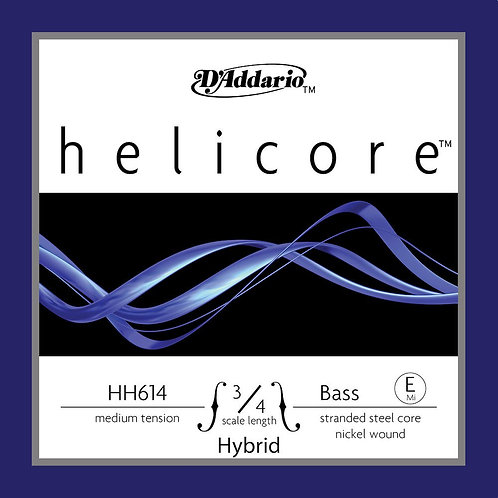 D'Addario Helicore Hybrid Bass SGL E String 3/4 Scale Med Tension