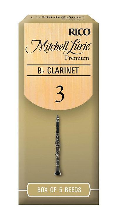 Mitchell Lurie Premium Bb Clarinet Reeds Strength 3.0 5 Pack