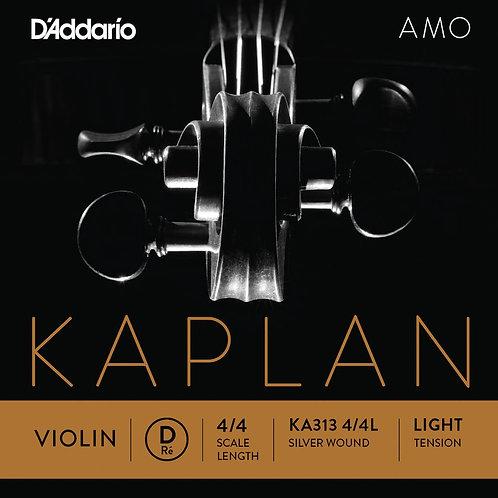 D'Addario Kaplan Amo Violin D String 4/4 Scale Light Tension
