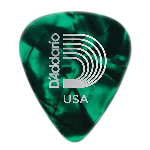 D'Addario Green Pearl Celluloid Guitar Picks 25 pack Med