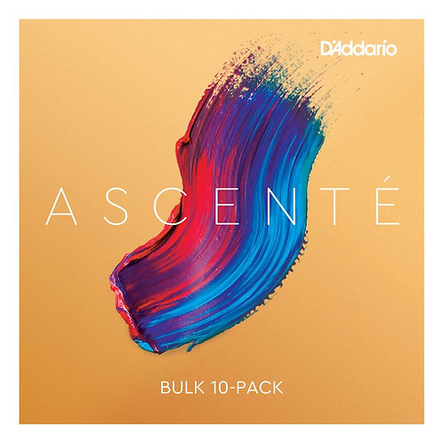 D'Addario Ascent Violin SGL E String 1/16 Scale Med Tension Bulk 10-Pack