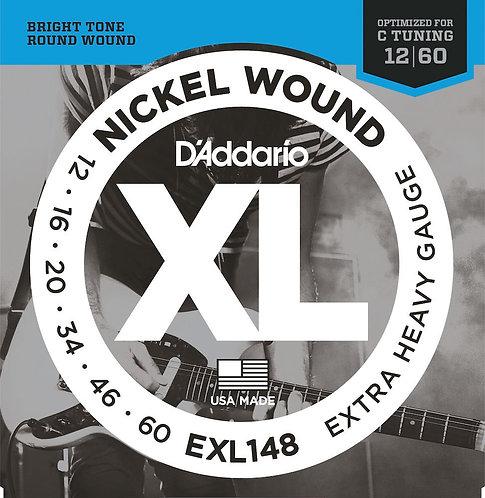 D'Addario EXL148 Nickel Wound Electric Guitar Strings X-Hvy 12-60