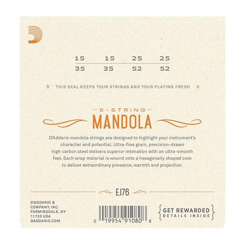 D'Addario EJ76 Phosphor Bronze Mandola Strings Med 15-52