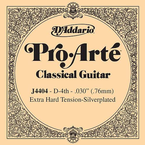 D'Addario J4404 Pro-Arte Nylon Classical Guitar SGL String X-Hard Tension Fourth