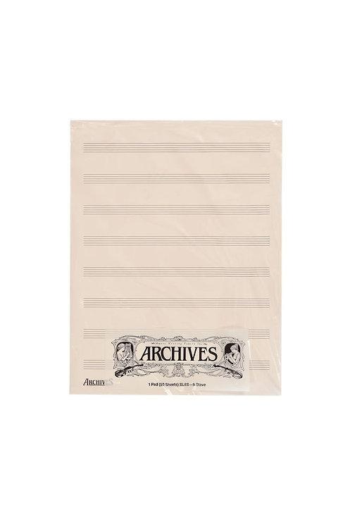 Archives Manuscript Score Pads 8 Stave 50 Sheets