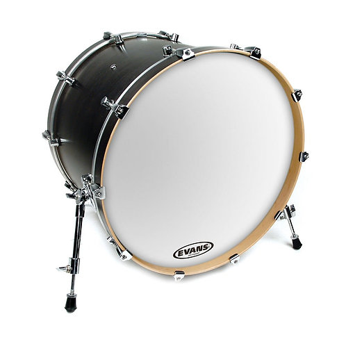 Evans EQ3 Resonant Smooth White Bass Drum Head 24 Inch