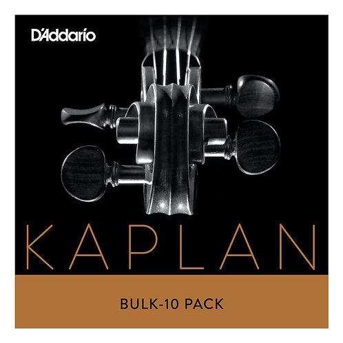 D'Addario Kaplan Bass SGL E String 3/4 Scale Hvy Tension Bulk 10-Pack