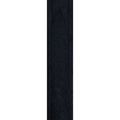 D'Addario Woven Guitar Strap Black Satin w/Pad